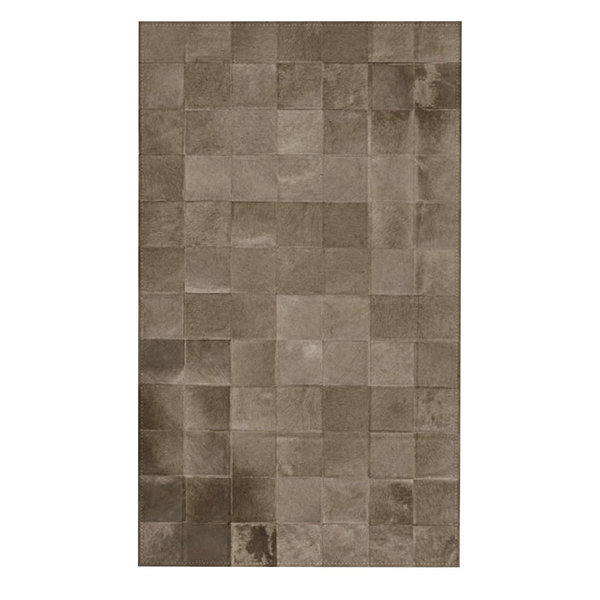 Platinum: Patchwork carpet from grey cowhide