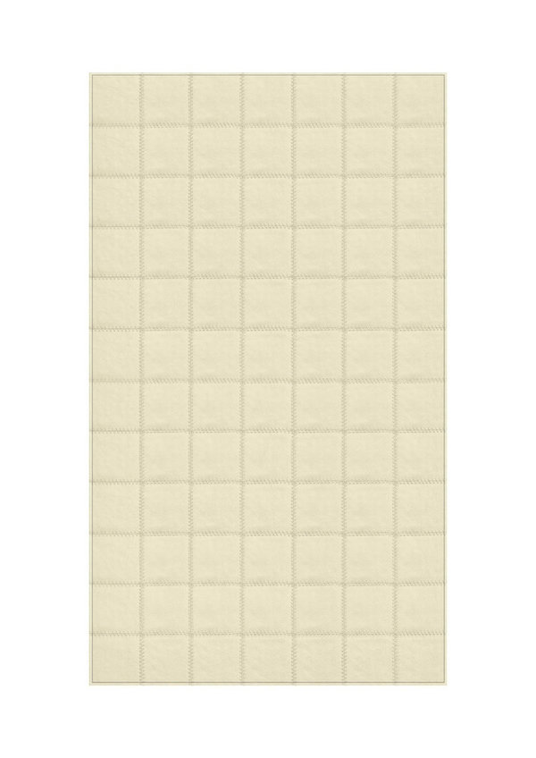 Ivory: Patchwork carpet from creamy white leather
