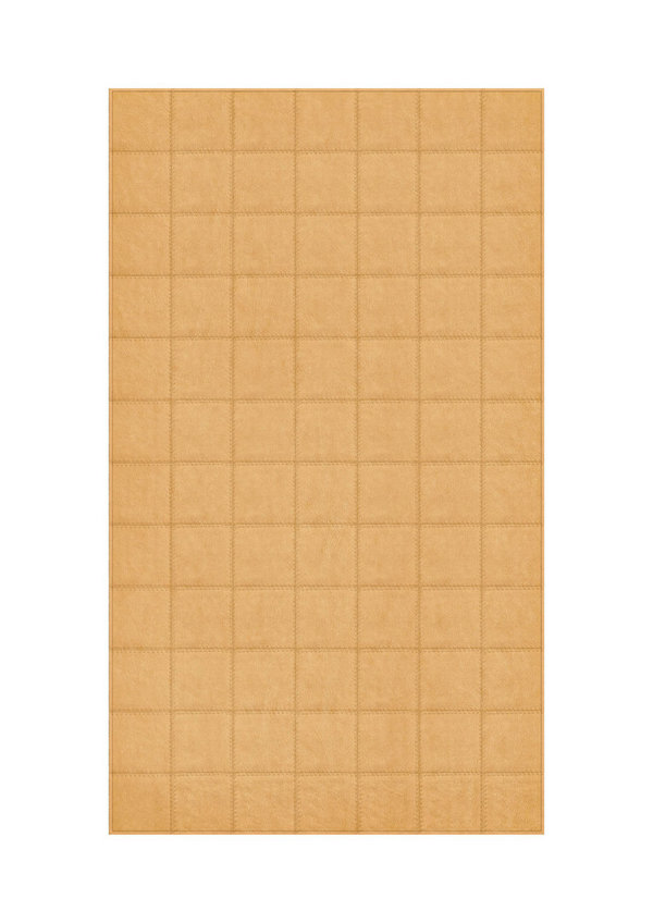Honey: Patchwork carpet from light brown leather