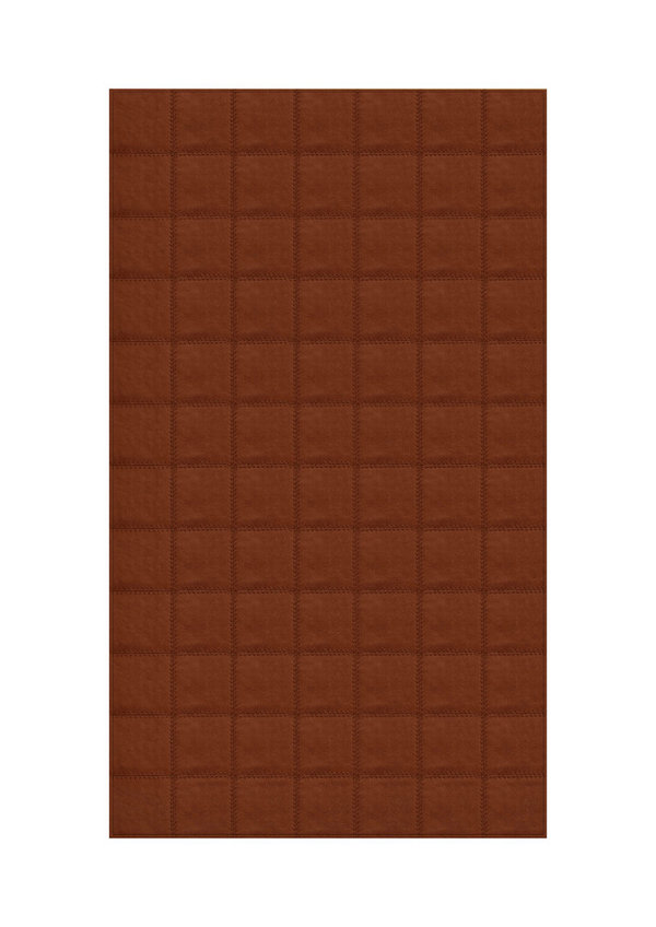 Tobacco: Patchwork carpet from brown leather
