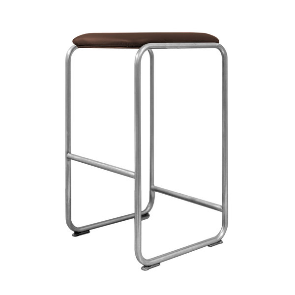 Barstool WB22 leather coffee brown