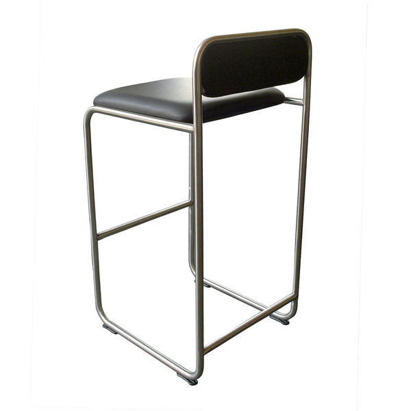 Barstool WB23 leather black