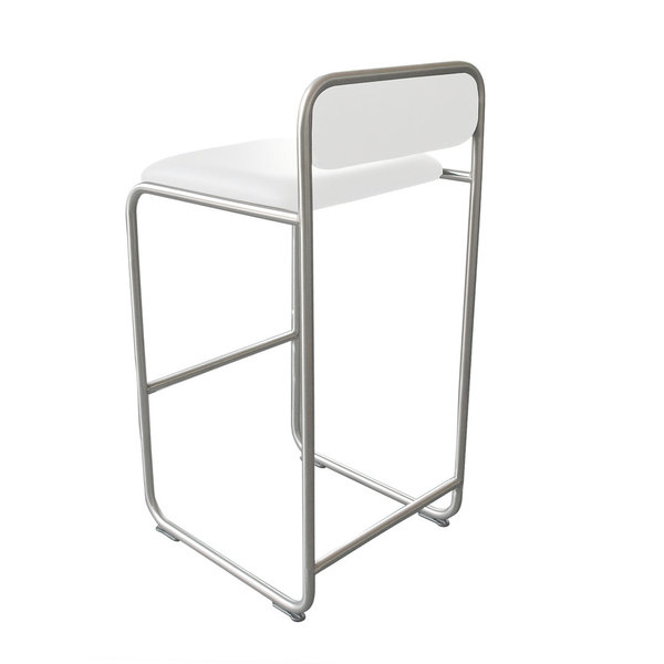 Barstool WB23 leather white