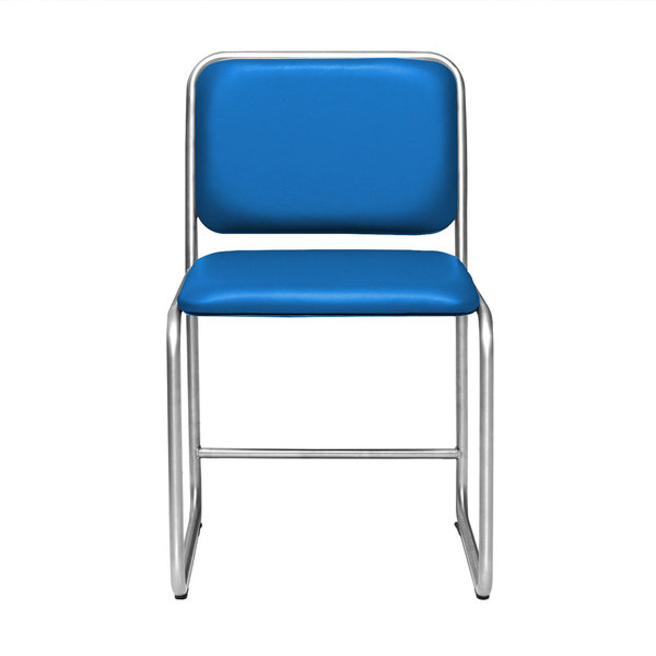 Chair WB1 leather blue
