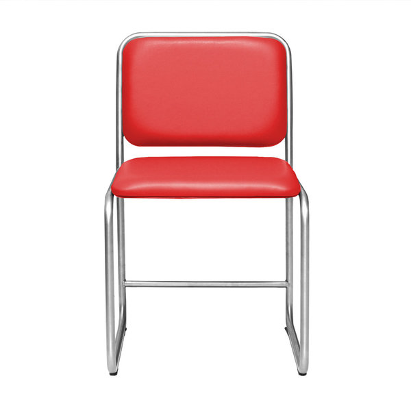 Chair WB1 leather red