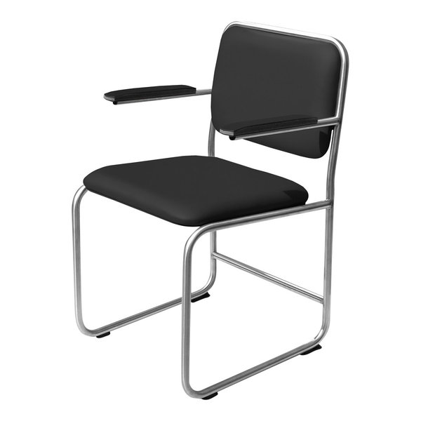 Chair WB2 leather black