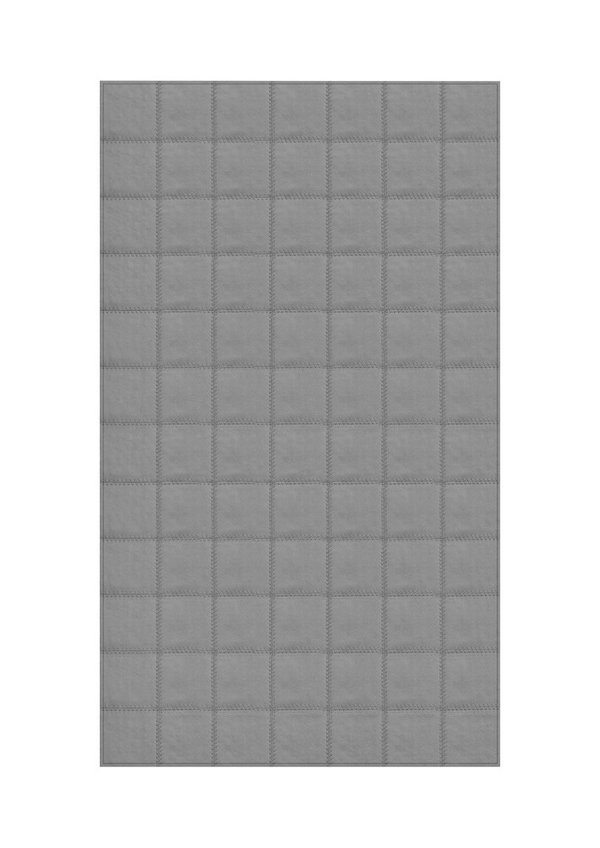 Platinum: Patchwork carpet from grey leather
