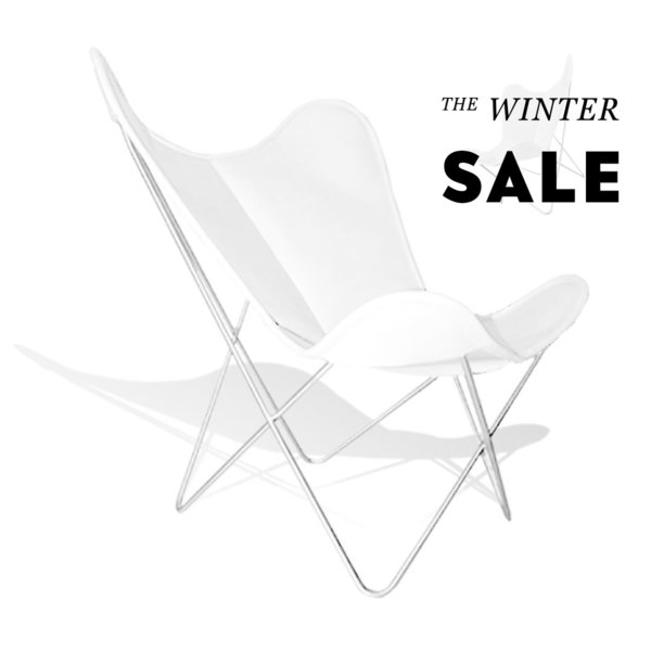 Hardoy Butterfly Chair ORIGINAL leather white
