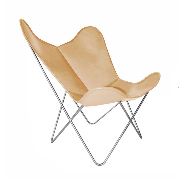 Hardoy Butterfly Chair ORIGINAL leather honey brown