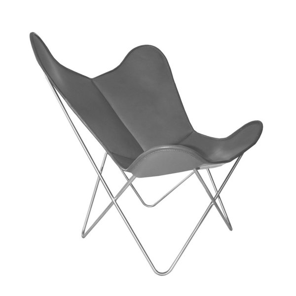 Hardoy Butterfly Chair ORIGINAL leather anthracite
